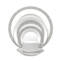 Vera Wang Wedgwood Gilded Weave Platinum Cup and Saucer