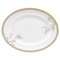 Vera Wang Wedgwood Vera Lace Gold Oval Platter 13.75 in 50146903001