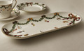 Royal Copenhagen Star Fluted Christmas Oval Serving Platter 15.5 in 1017444