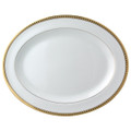 Bernardaud Athena Gold Oval Platter 13 in
