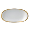 Bernardaud Athena Gold Relish Dish 9x5 in