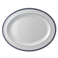 Bernardaud Athena Navy Oval Platter 13 in