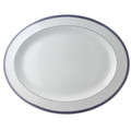 Bernardaud Athena Navy Oval Platter 15 in