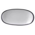 Bernardaud Athena Navy Relish Dish 9x5 in