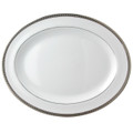 Bernardaud Athena Platinum Oval Platter 15 in