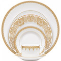 WATERFORD LISMORE LACE GOLD FIVE PIECE PLACE SETTING 160619