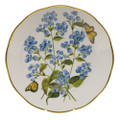 Herend American Wildflowers Dinner Plate Blue Wood Aster 10.5 in FLA-AS20524-0-50