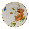 Herend American Wildflowers Salad Plate California Poppy 7.5 in FLA-PO20518-0-00