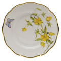 Herend American Wildflowers Salad Plate Evening Primrose 7.5 in FLA-EP20518-0-00