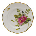 Herend American Wildflowers Salad Plate Prairie Rose 7.5 in FLA-PR20518-0-00