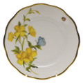 Herend American Wildflowers Bread and Butter Plate Evening Primrose 6 in FLA-EP20515-0-00