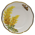 Herend American Wildflowers Bread and Butter Plate Tall Goldenrod 6 in FLA-GR20515-0-00