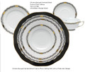 Herend Chinese Bouquet Garland Black 5-piece Place Setting