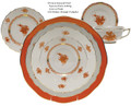 Herend Chinese Bouquet Rust 5-piece Place Setting