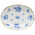 Herend Fortuna Blue Oval Platter 17 in VBOB--01101-0-00