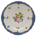 Herend Printemps with Blue Border Salad Plate No.2 7.5 in BT-EB-01518-0-02