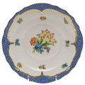 Herend Printemps with Blue Border Salad Plate No.5 7.5 in BT-EB-01518-0-05