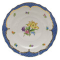 Herend Printemps with Blue Border Salad Plate No.6 7.5 in BT-EB-01518-0-06