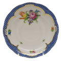 Herend Printemps with Blue Border Tea Saucer No.2 6 in BT-EB-00734-1-02