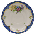 Herend Printemps with Blue Border Tea Saucer No.6 6 in BT-EB-00734-1-06