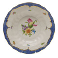 Herend Printemps with Blue Border Rim Soup No.3 9.5 in BT-EB-01503-0-03