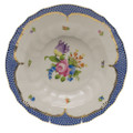 Herend Printemps with Blue Border Rim Soup No.4 9.5 in BT-EB-01503-0-04