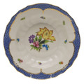 Herend Printemps with Blue Border Rim Soup No.6 9.5 in BT-EB-01503-0-06