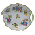 Herend Queen Victoria Leaf Dish 7.75 in VBO---00204-0-00