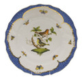 Herend Rothschild Bird Borders Blue Dinner Plate No.3 10.5 in RO-EB-01524-0-03