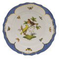 Herend Rothschild Bird Borders Blue Dinner Plate No.6 10.5 in RO-EB-01524-0-06