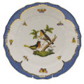 Herend Rothschild Bird Borders Blue Dinner Plate No.8 10.5 in RO-EB-01524-0-08