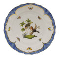 Herend Rothschild Bird Borders Blue Dinner Plate No.10 10.5 in RO-EB-01524-0-10