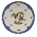 Herend Rothschild Bird Borders Blue Dinner Plate No.12 10.5 in RO-EB-01524-0-12