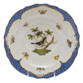 Herend Rothschild Bird Borders Blue Salad Plate No. 1 7.5 in RO-EB-01518-0-01