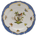 Herend Rothschild Bird Borders Blue Salad Plate No. 3 7.5 in RO-EB-01518-0-03
