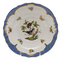 Herend Rothschild Bird Borders Blue Salad Plate No. 4 7.5 in RO-EB-01518-0-04