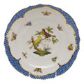 Herend Rothschild Bird Borders Blue Salad Plate No. 6 7.5 in RO-EB-01518-0-06