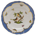 Herend Rothschild Bird Borders Blue Salad Plate No. 8 7.5 in RO-EB-01518-0-08
