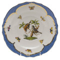 Herend Rothschild Bird Borders Blue Salad Plate No. 12 7.5 in RO-EB-01518-0-12