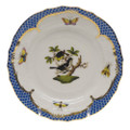 Herend Rothschild Bird Borders Blue Bread and Butter Plate No. 1 6 in RO-EB-01515-0-01