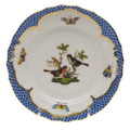 Herend Rothschild Bird Borders Blue Bread and Butter Plate No. 5 6 in RO-EB-01515-0-05