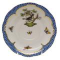 Herend Rothschild Bird Borders Blue Tea Saucer No.1 6 in RO-EB-00734-1-01