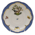 Herend Rothschild Bird Borders Blue Tea Saucer No.2 6 in RO-EB-00734-1-02