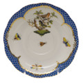 Herend Rothschild Bird Borders Blue Tea Saucer No.3 6 in RO-EB-00734-1-03