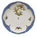 Herend Rothschild Bird Borders Blue Tea Saucer No.6 6 in RO-EB-00734-1-06