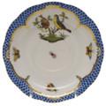 Herend Rothschild Bird Borders Blue Tea Saucer No.7 6 in RO-EB-00734-1-07