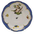 Herend Rothschild Bird Borders Blue Tea Saucer No.8 6 in RO-EB-00734-1-08