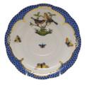 Herend Rothschild Bird Borders Blue Tea Saucer No.9 6 in RO-EB-00734-1-09