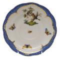 Herend Rothschild Bird Borders Blue Tea Saucer No.10 6 in RO-EB-00734-1-10