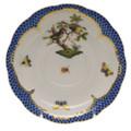 Herend Rothschild Bird Borders Blue Tea Saucer No.11 6 in RO-EB-00734-1-11